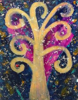 """TREE OF LIFE - 30""""x24"""" Mixed Media"""