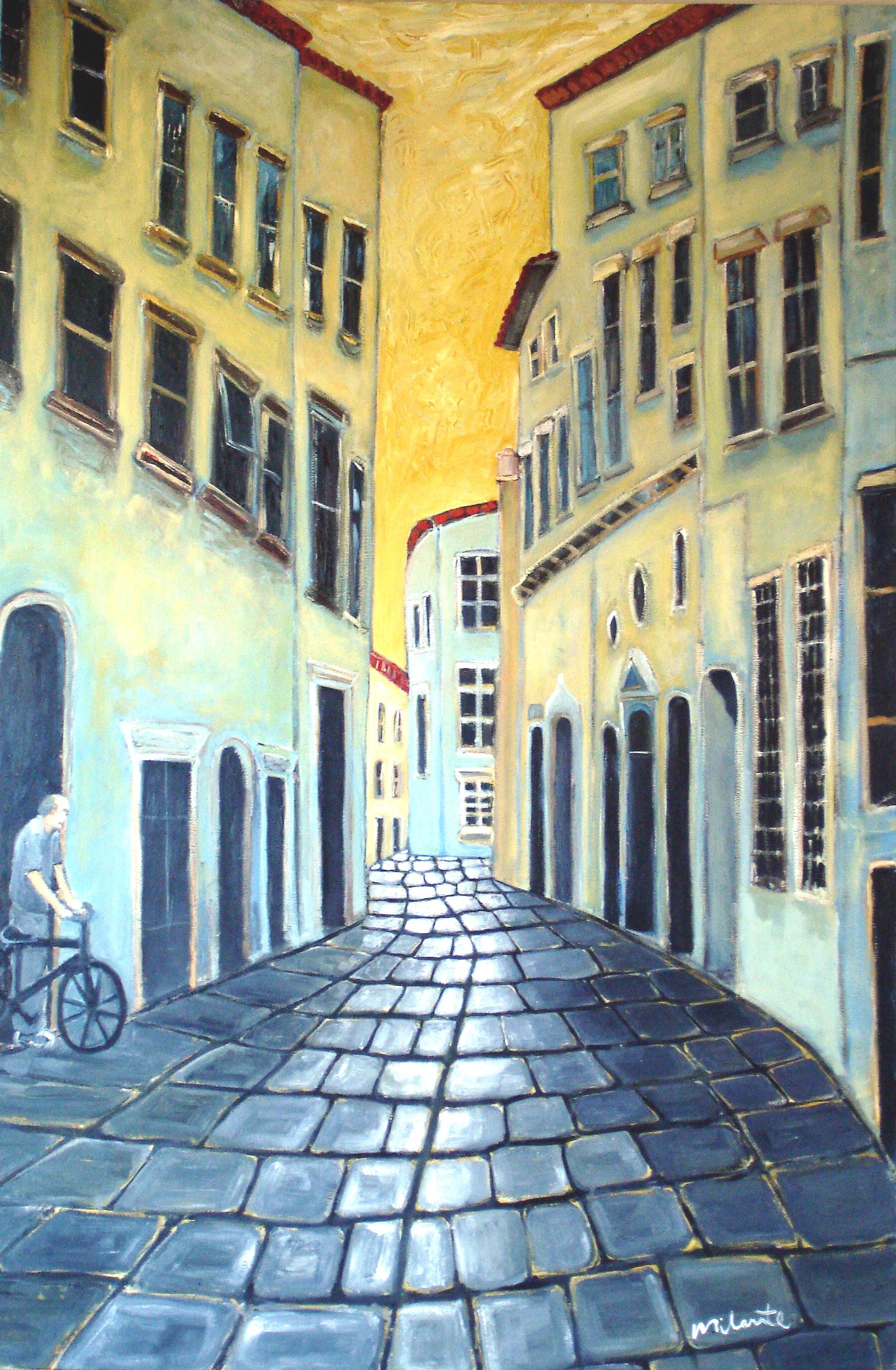 LUCCA COBBLESTONE STREET