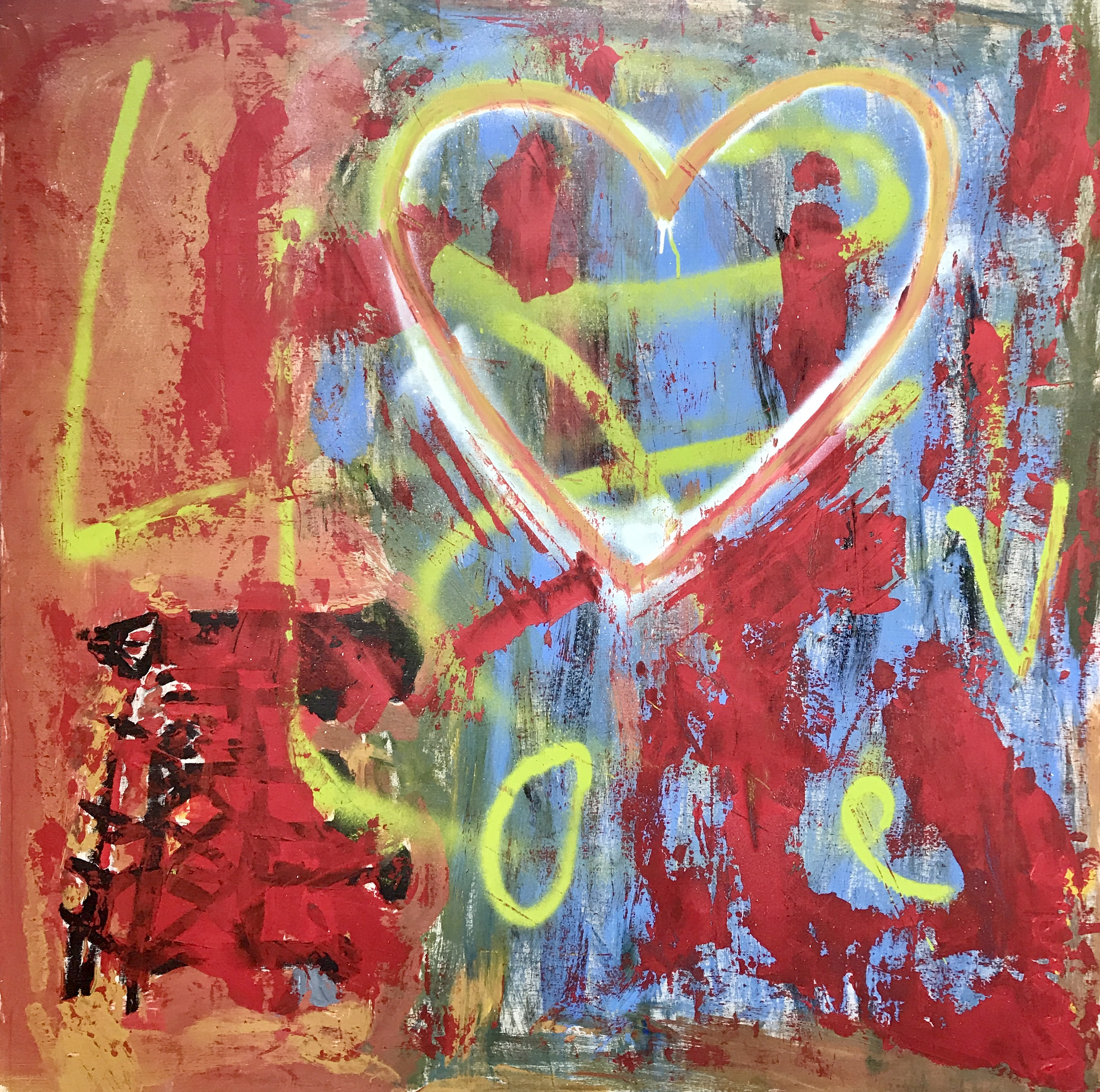 "TRUE LOVE - 48""x48"" Acrylic On Wood"