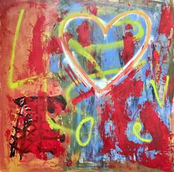 "TRUE LOVE - 48""x48"" Acrylic On Wood"