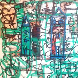 """HOME 3 - 48""""x48"""" Acrylic on wood"""