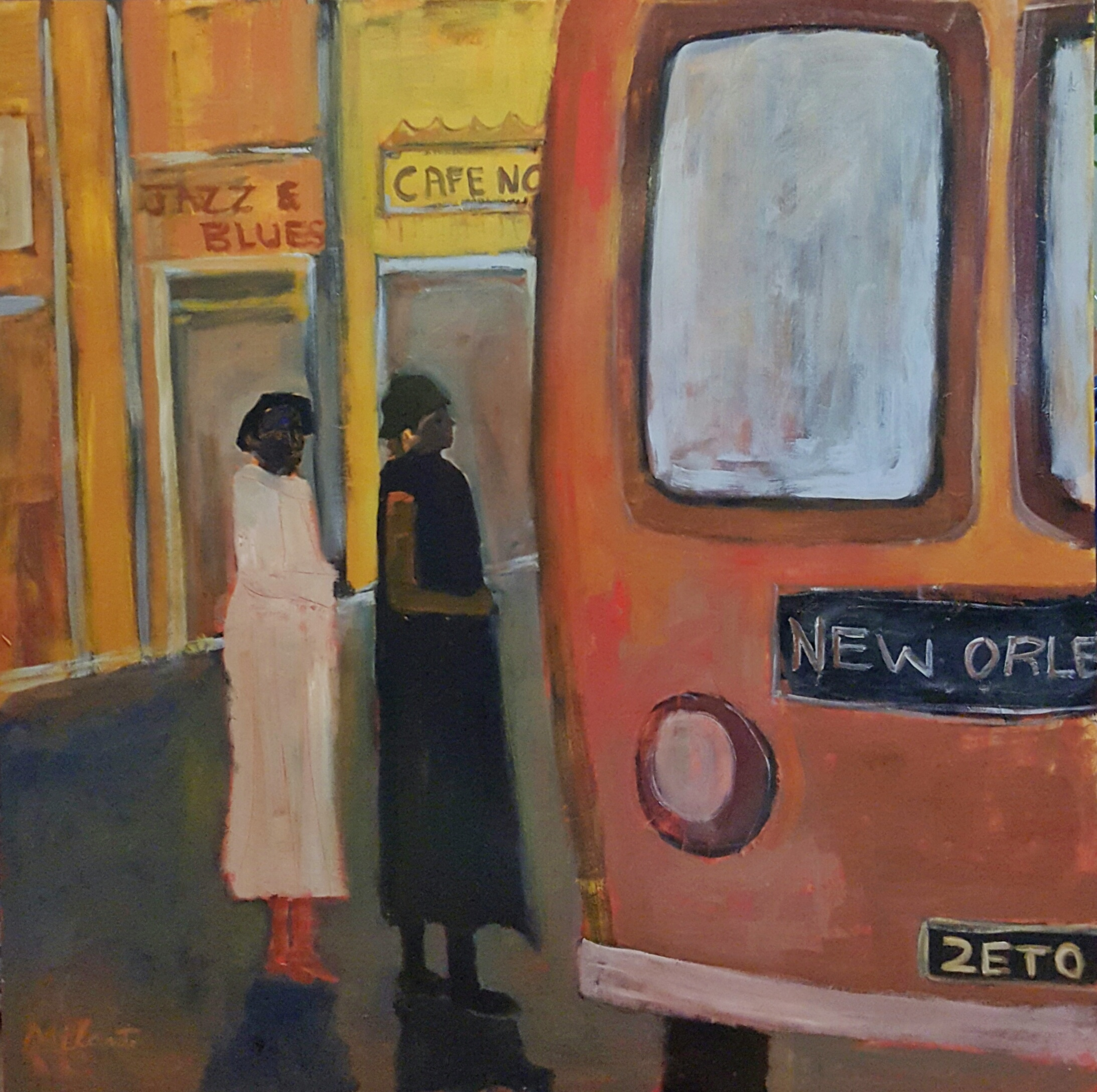 "NEW ORLEANS - 48"" x 48"" Acrylic/Wood"