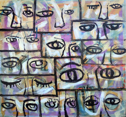RUDY MILANTE PAINTING I SEE YOU_26X28