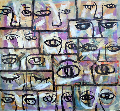 RUDY MILANTE PAINTING I SEE YOU_26X28.jp