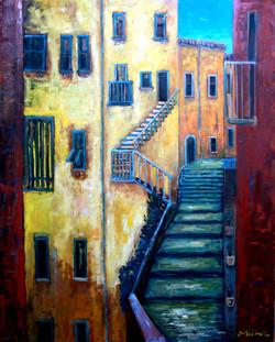 LAKE COMO 3 - 5' x 4' Oil on canvas