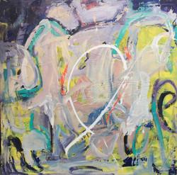 """LIFE - 48""""x48""""  Acrylic On Wood"""