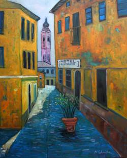 LAKE COMO 4 - 5' x 4' Oil on canvas