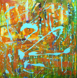 """THE LIGHT OF KINDNESS 48"""" x 48"""" AW"""