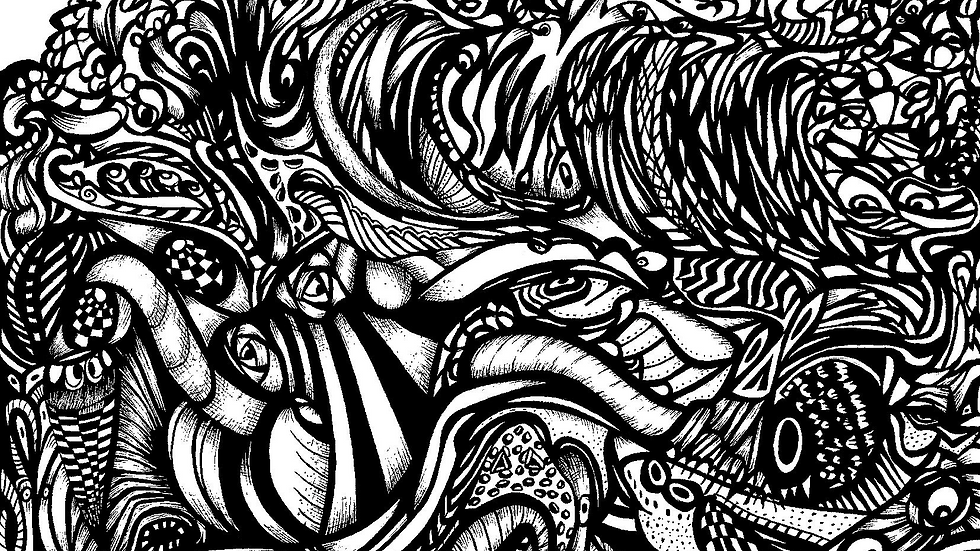 Limited Edition Fine Art A3 Giclee Print: Drowning in A Sea of Chaos