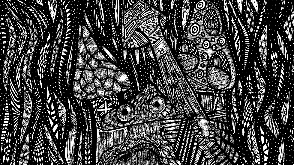 Limited Edition Fine Art A4 Giclee Print: Down at the Bottom of the Garden