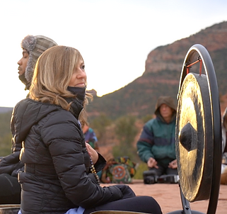 Gong Ceremony Cathedral Vortex in Sedona