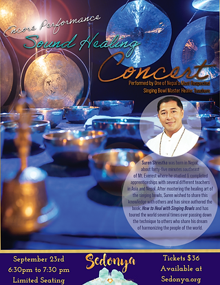 Sedona Sound Healing Concert with Suren Shrestha