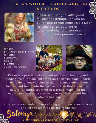 Sedona Kirtan an evening of chanting to raise vibrations and open your hearts