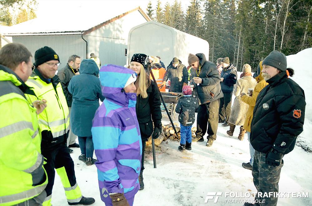 Trafikksikkerhetsdag med trafikkskole Follo Trafikkteam og NAF avd Follo på Nesodden. Hyggelig lunsj pause