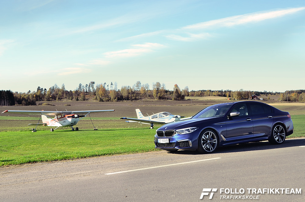 Bilia Follo BMW M550i kjøreopplevelser. Trafikkskole Follo Trafikkteam