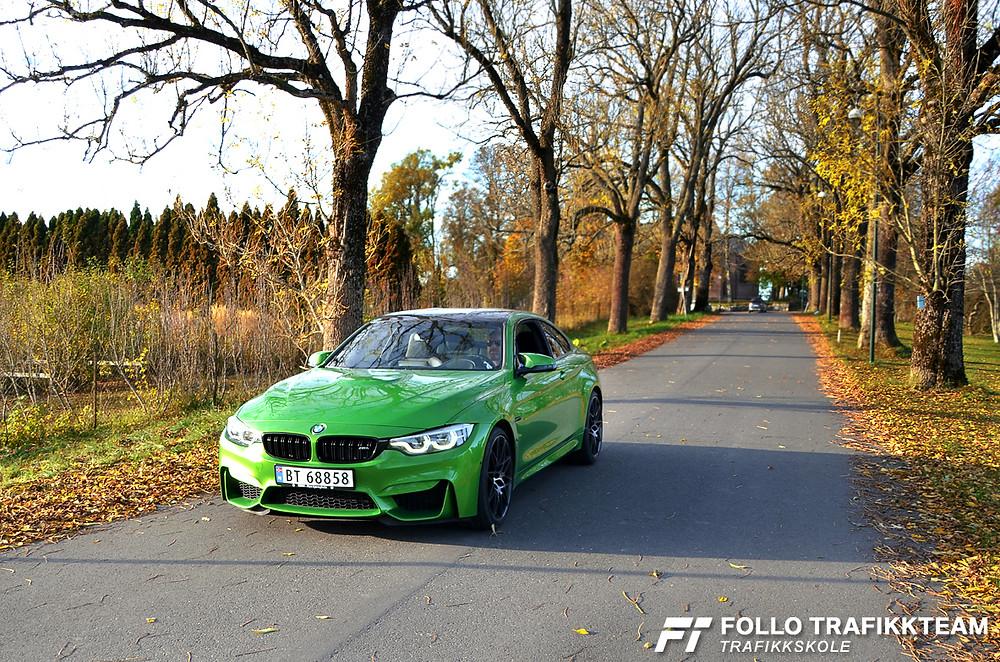 Bilia Follo BMW M4 kjøreopplevelser. Trafikkskole Follo Trafikkteam