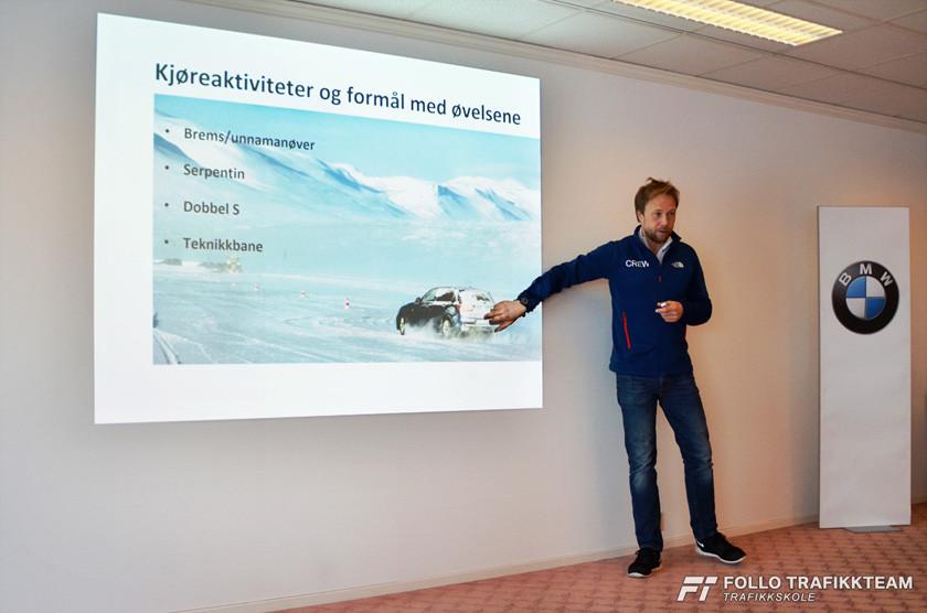 BMW Winter Experience 2017 teori i konferanserom