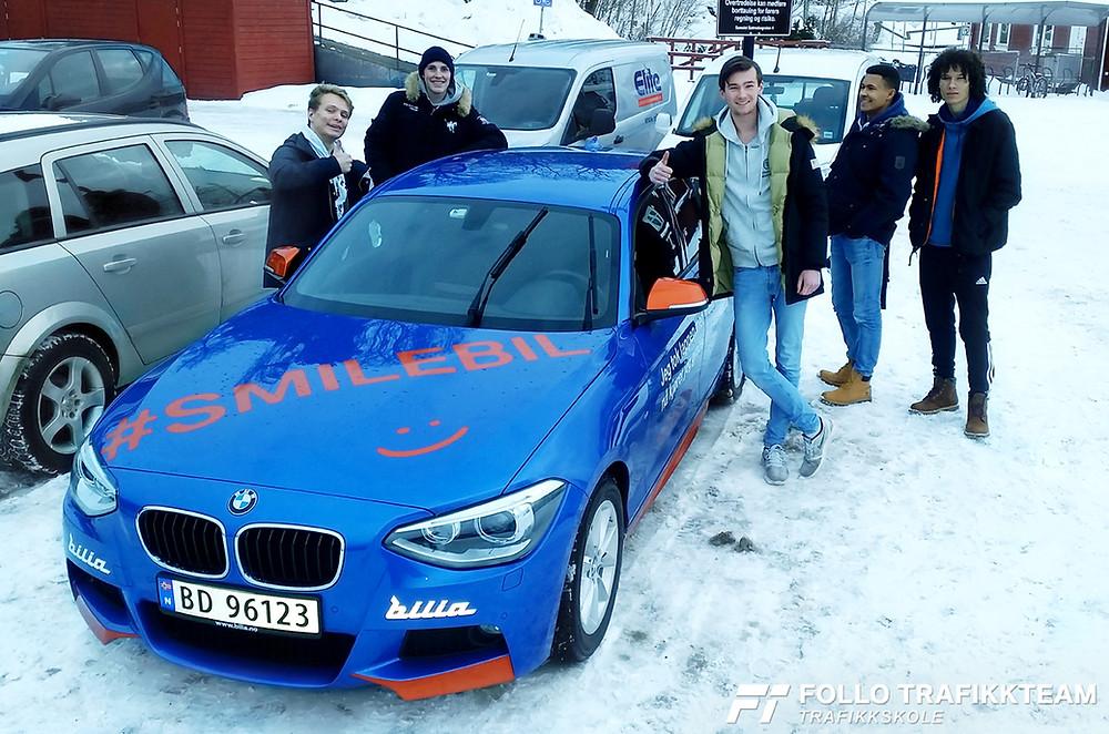 Smilebil februar 2018 trafikkskole Follo Trafikkteam og Bilia Follo