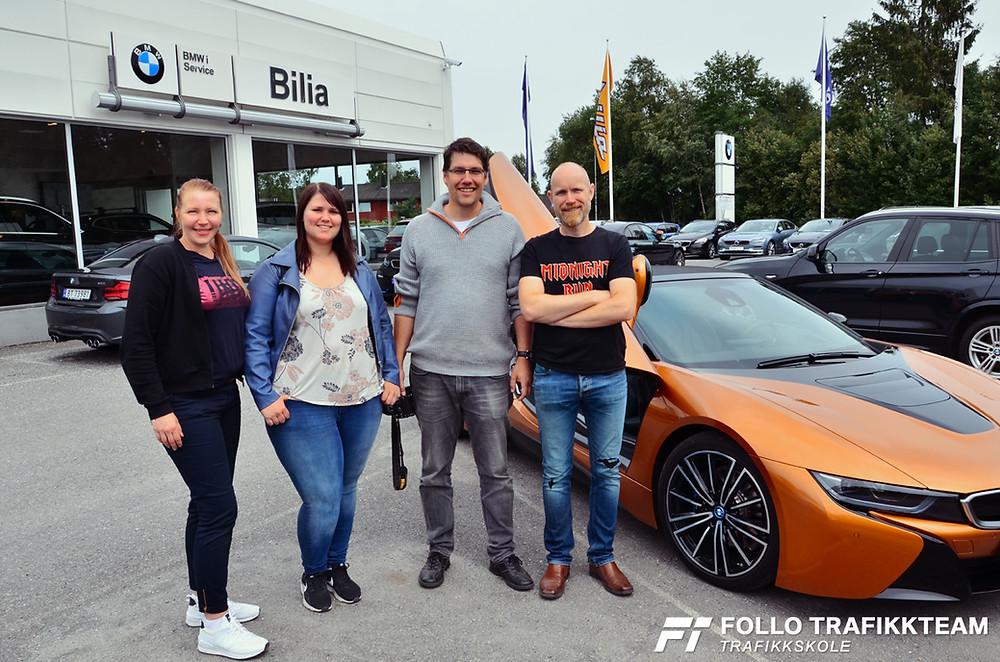 Lærere fra trafikkskole Follo Trafikkteam på BMW Road Show hos Bilia Follo