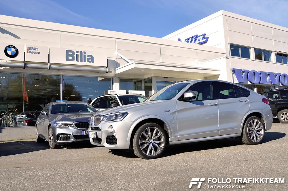 Bilia Follo BMW X440M kjøreopplevelser. Trafikkskole Follo Trafikkteam