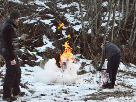Follo Trafikkteam, trafikkskole i Ski og Oppegård har testet brannslukker.