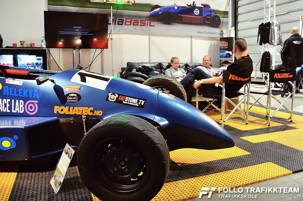 Bilen til racerbilfører Edward Sander Woldseth på Oslo Motorshow