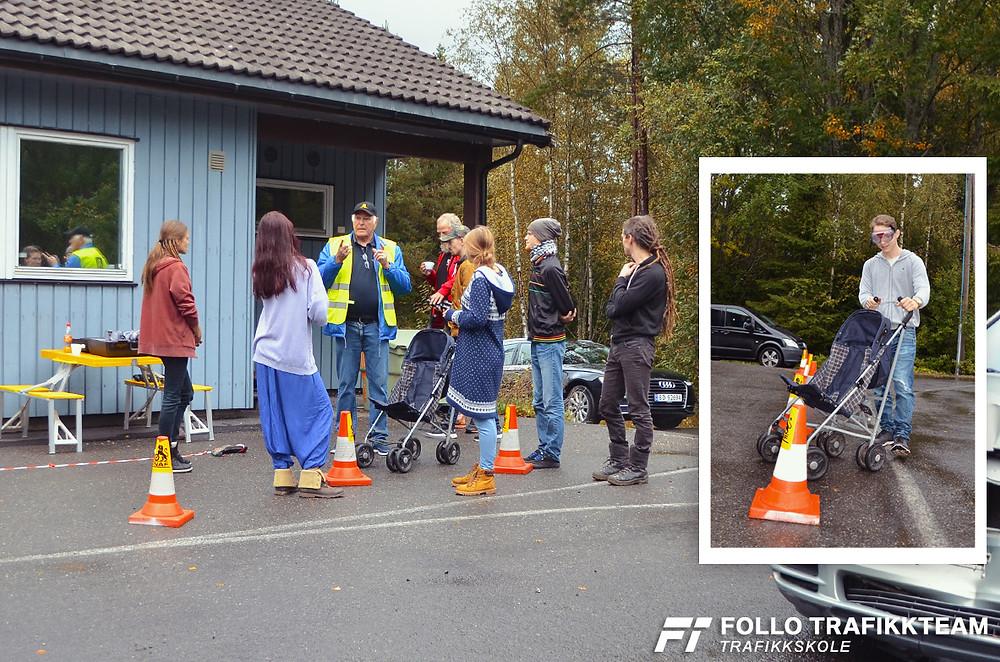 Åpen dag NAF Øvingsbane Nesodden. Her ser vi full aktivitet rundt løypa for promillebriller.