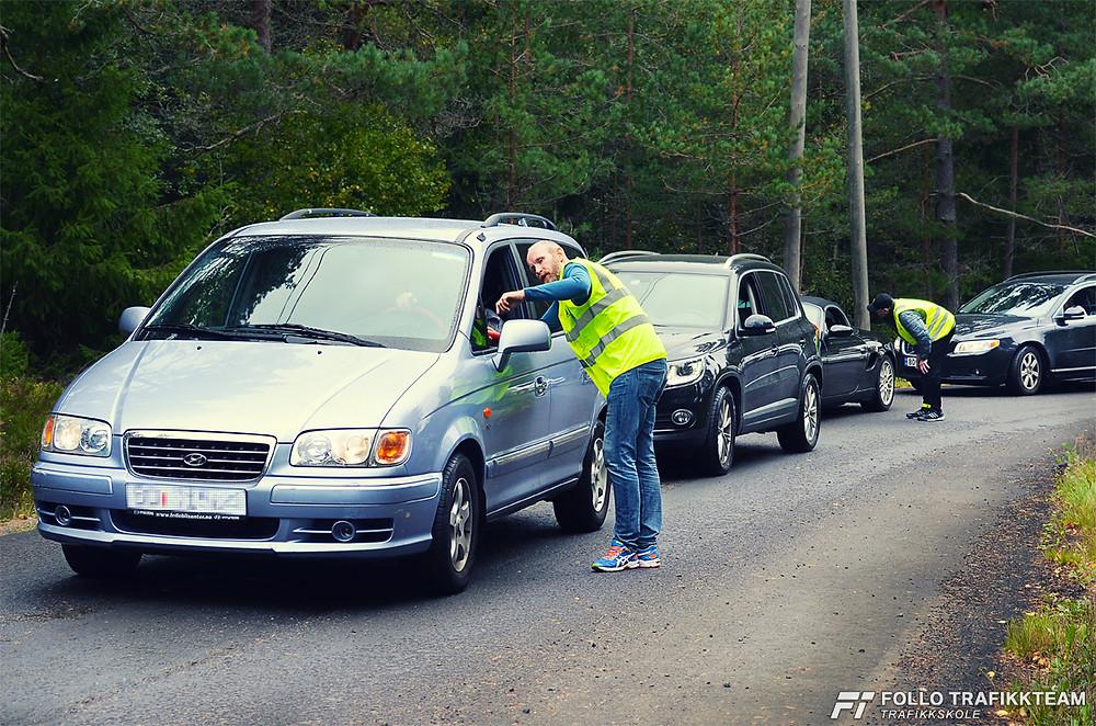 trafikklærere Grim Ketil Nordhus og Leif Erik Englund