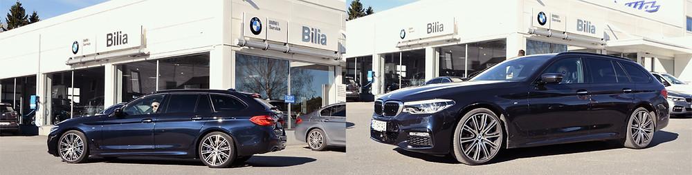 BMW 540i Touring X-Drive kjøopplevelser på Bilia Follo. Trafikkskole Follo Trafikkteam