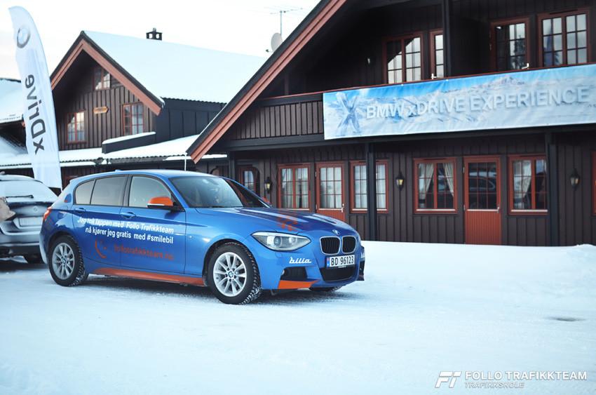 BMW Winter Experience 2017. Smilebil og ankom Golsfjell Fjellstue.