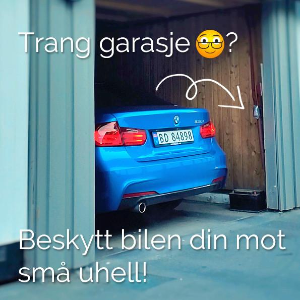 Trang garasje. Beskytt bilen din mot små uhell. Trafikkskole Follo Trafikkteam