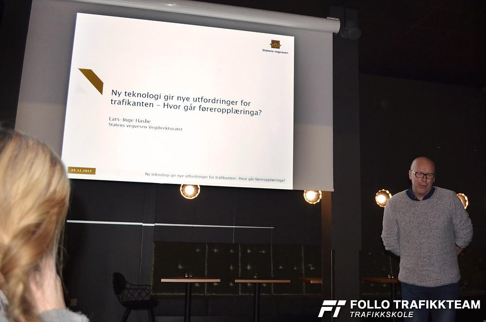 ATL avdeling Oslo og Akershus inviterer til samling om ny teknologi og førerstøtte i fremtiden. Lars-Inge Haslie fra Statens Vegvesen på Bilia Skøyen