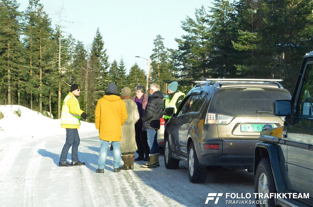 Trafikksikkerhetsdag med trafikkskole Follo Trafikkteam og NAF avd Follo på Nesodden. Sving
