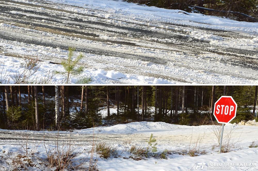 Trafikkskole Follo Trafikkteam sikkerhetskurs på bane glattkjøring med elever fra Ski og Oppegård. Foto: Trafikkskole Follo Trafikkteam.