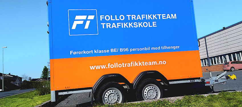 Førrkort klasse B96 og BE på Oppegård eller Vestby hos trafikkskole Follo Trafikkteam