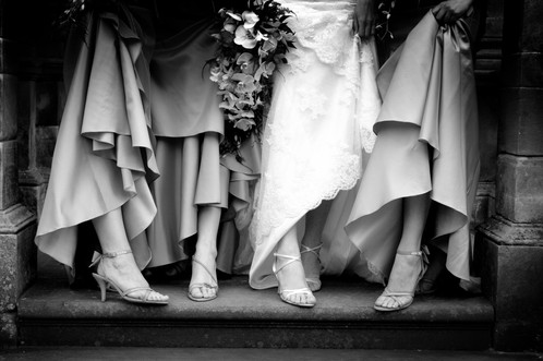 Shoes and Wedding Dress Photograph, Scotland