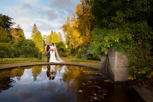 Romantic Wedding Photograph at Kirknewton Stables