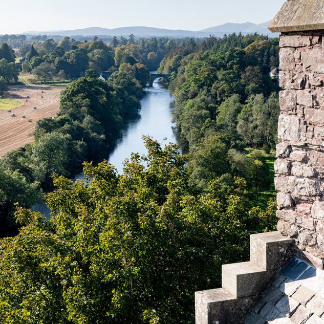 View from the top of Doune Castle roof