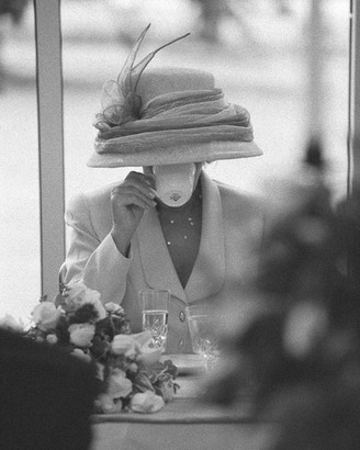 The hat and Tea Cup wedding photograph by Neil Fordyce