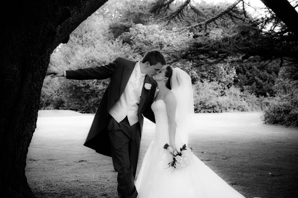 Classic Wedding Photograph in the Grounds of Dunkeld Cathedral