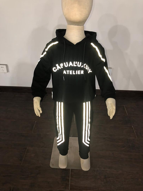 Enfant Reflective Sweatsuit Noire