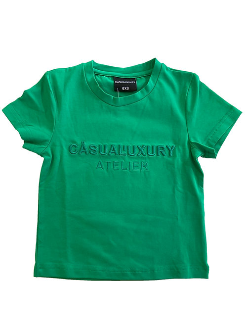 Green Embroidery T Enfant