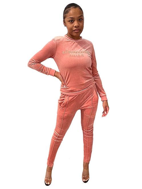 Velour Sweatsuit Femme