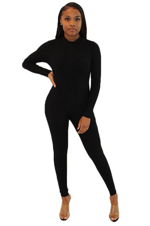 Athleisure Bodysuit Noire
