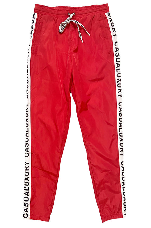 Logo Track Pant Red Homme