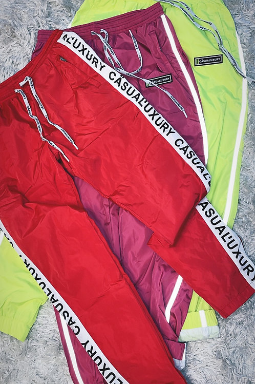 Homme Logo Track Pant Red