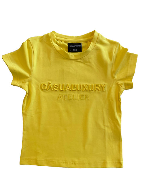 Yellow Embroidery T Enfant