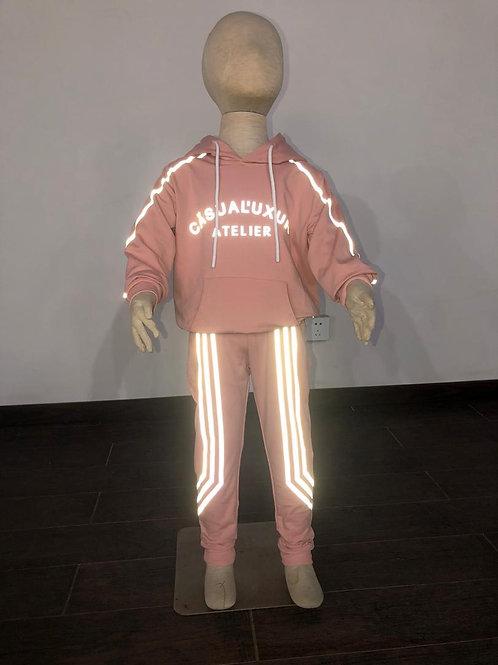 Enfant Reflective Sweatsuit Mauve