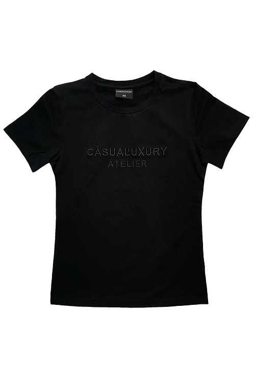 Black Embroidery T Femme