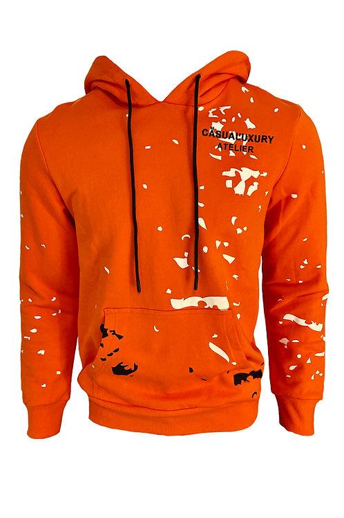 Orange Painted Hoodie